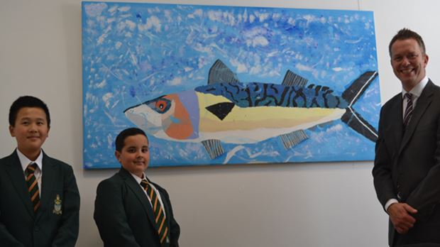 New beginnings, new Art work. Two Year 8 students created this magnificent piece of artwork over several lunchtimes last year. I was pleased to choose this for my office as it demonstrates not only artistic ability but also their commitment to collaboration and working together.